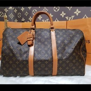 💯%authentic Louis Vuitton keepall 50